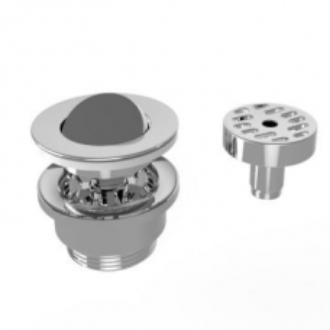KIT 24C Basin Drain with Captive Flip Plug Polished Chrome