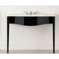 Lavello 114 Vanity with Basin Top No Tap Holes 1145 x 579mm Gloss Black