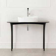 Stiletto Vanity Table excluding Tap Hole 1100x497x798mm Piano Black