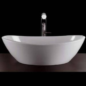 Amalfi Rimless Countertop Basin no Overflow 550x340x172mm White