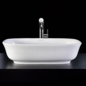 Amiata Rimless Countertop Basin no Overflow 600x413x157mm White