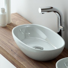 Barcelona Rimless Countertop Basin No Overflow 480x301x120mm White