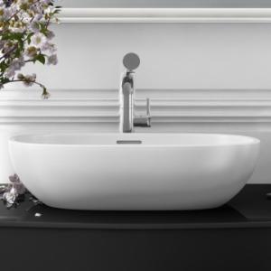 Barcelona 55 Countertop Basin Internal Overflow 550x325mm White