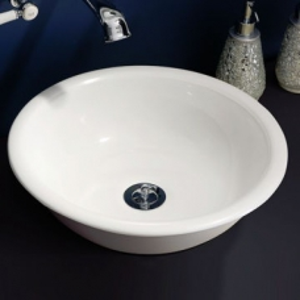 Drayton Rimless Countertop Basin no Overflow 400x400x123mm White