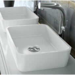 Edge Rimless Countertop Basin no Overflow 110x322x450mm White