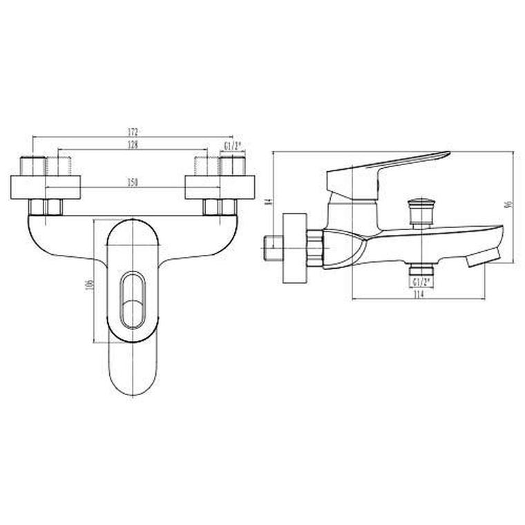 Franke Liscio Bath Mixer with Hand Shower Chrome | Plumb It
